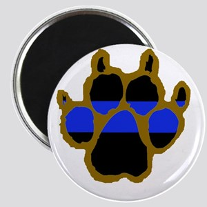 Brown Thin Blue Line Paw Enforcement Magnet